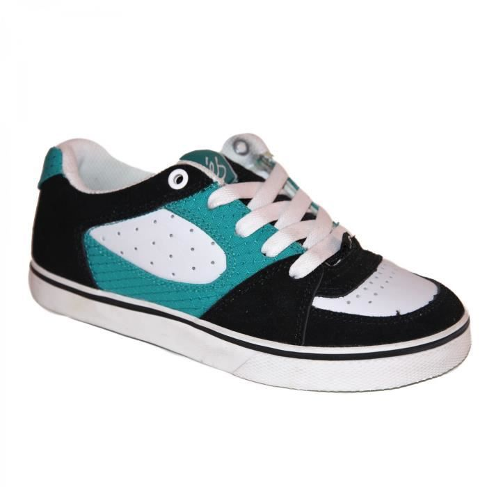 samples shoes ES SQUARE ONE BLACK WHITE TURQUOISE KIDS / ENF