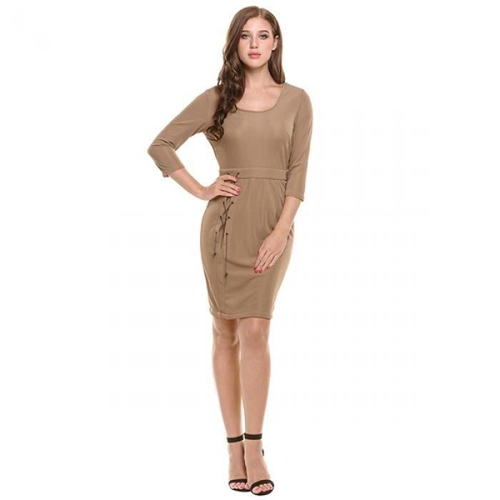 3999d68d89b Robe tunique Casual manches 34 pour élégant femmes - firedkaramchari.com