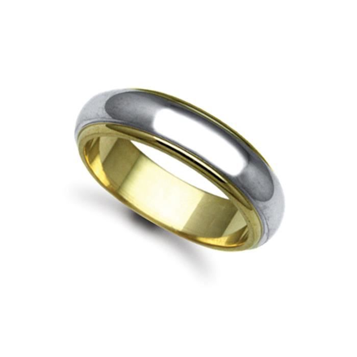 Jewelco London Or 2 couleurs 18k mariage bague 6mm
