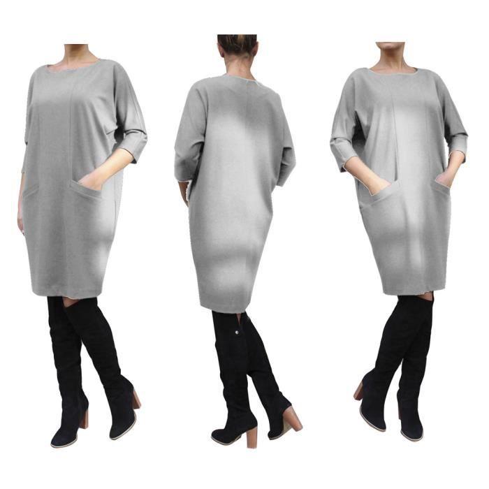 Robes Femmes Classique Loisirs En vrac Mode De 2017 Marque De Luxe Robes Avoir une poche Loisirs vetement Grande Taille S-XXXL
