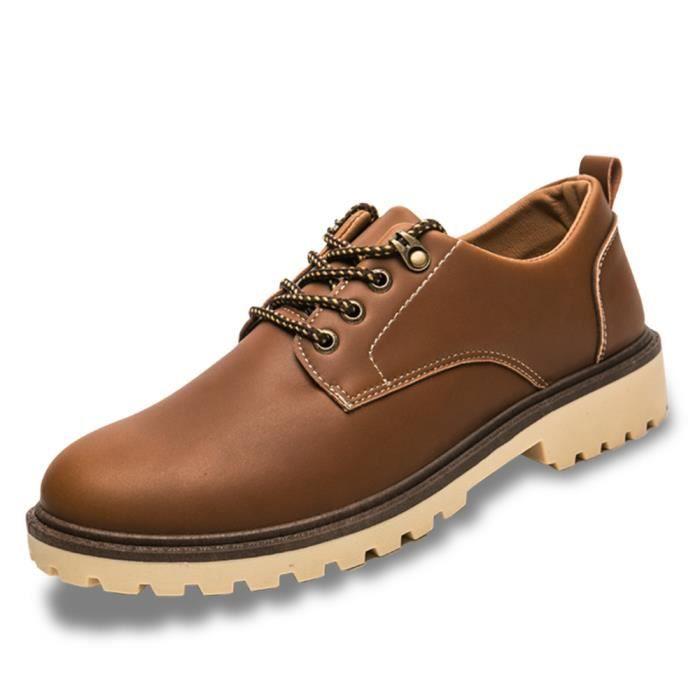 Bottine mode homme Super Antidérapant csemelles de Caoutchou Chaussures décontractées De Marque De Luxe Sneake dssx322jaune44