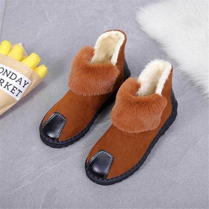Bottes de neige Femmes Mode Beau Nouvelle Mode Hiver Chaud Chaussures en cachemire AntidéRapant Plusieurs Couleurs 35-40