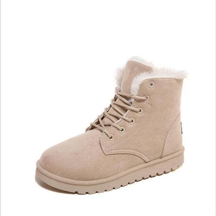 Bottine Femme hiver chaud hiver Coton peluche boots BMMJ-XZ002Jaune-39 kTQZx