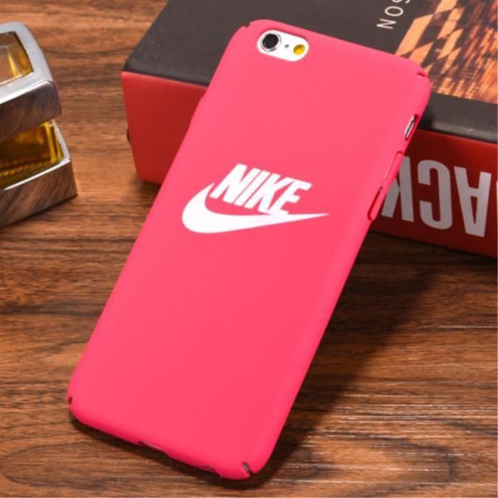 coque apple iphone 8 plus rose rouge