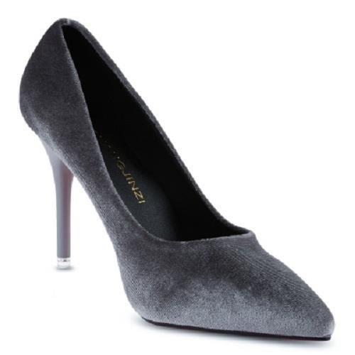 Chaussures femmes-Escarpin en suédine talon 9.5 cm