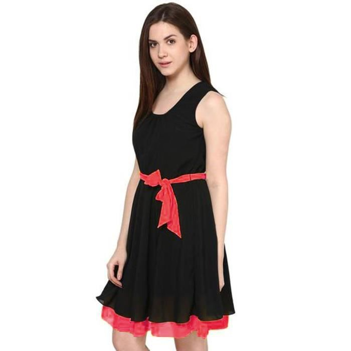 Womens Black Pink Georgette Tunic (bc-black Pink Tunic-p) QJHWW Taille-34