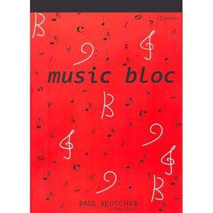 AUTRES LIVRES Bloc papier musique