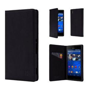 HOUSSE - ÉTUI Étui Sony Xperia XZ -Classic Wallet- en cuir Vérit
