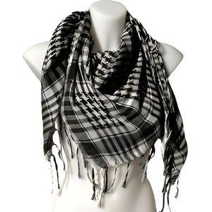 ECHARPE - FOULARD Keffieh palestinien Homme Femme noir et blanc 851b8355a98