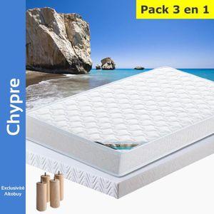 ENSEMBLE LITERIE Chypre - Pack Matelas + AltoFlex 140x190 + Pieds