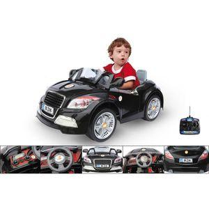 VOITURE ENFANT Voiture électrique 12V avec télécommande BMW noire
