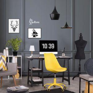 CHAISE DE BUREAU Chaise de bureau 47.5x43x80-88cm Plastique PP PU M