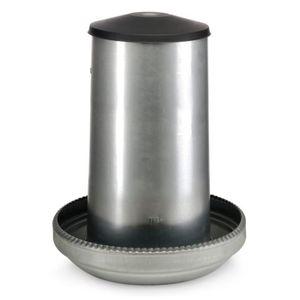 MANGEOIRE - TRÉMIE Mangeoire Galva Silo 26kg + Couvercle