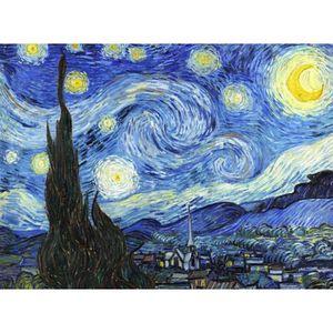 TABLEAU - TOILE Tableau La Nuit étoilée Vincent van Gogh 75 x 55 c