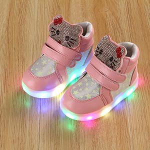 BASKET Baskets Enfants chaussures filles Bébé LED lumière