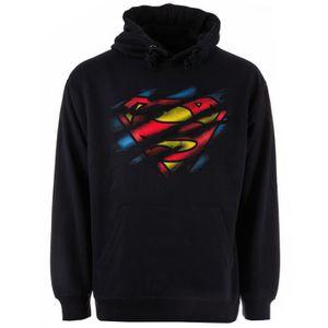 À Sweat Logo Comics Torn Superman Pour Capuche Sweatshirt Dc qpd7xwnf75