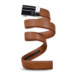 CEINTURE ET BOUCLE Ceinture en cuir à cliquet, 40mm 3bar Collection 1 ... 7c1a4cb0b8a