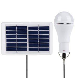 LAMPE - LANTERNE TEMPSA Panneau solaire 1.5W 5V + 7W ampoule LED po