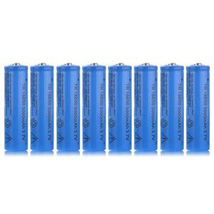 PILES 8pcs TR 18650 5000mAh 3.7V batterie Li ion recharg