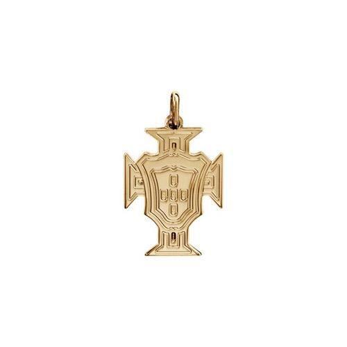 Pendentif plaqué or croix Portugal petit modèle