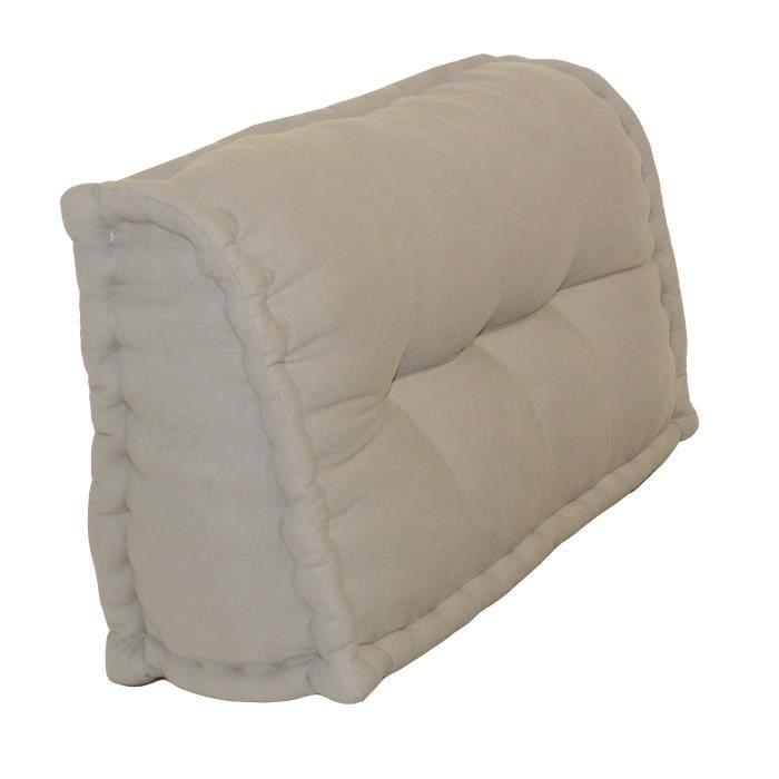 Dossier Cale Reins 100% coton 60x22/11xH35 cm LIN   Achat / Vente