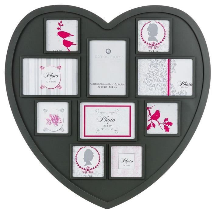 cadre pele mele coeur achat vente pas cher. Black Bedroom Furniture Sets. Home Design Ideas