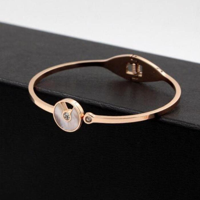 Bracelet femme Plaqué 18k or rose Lacier au titane ne se fane pas bijoux féminins