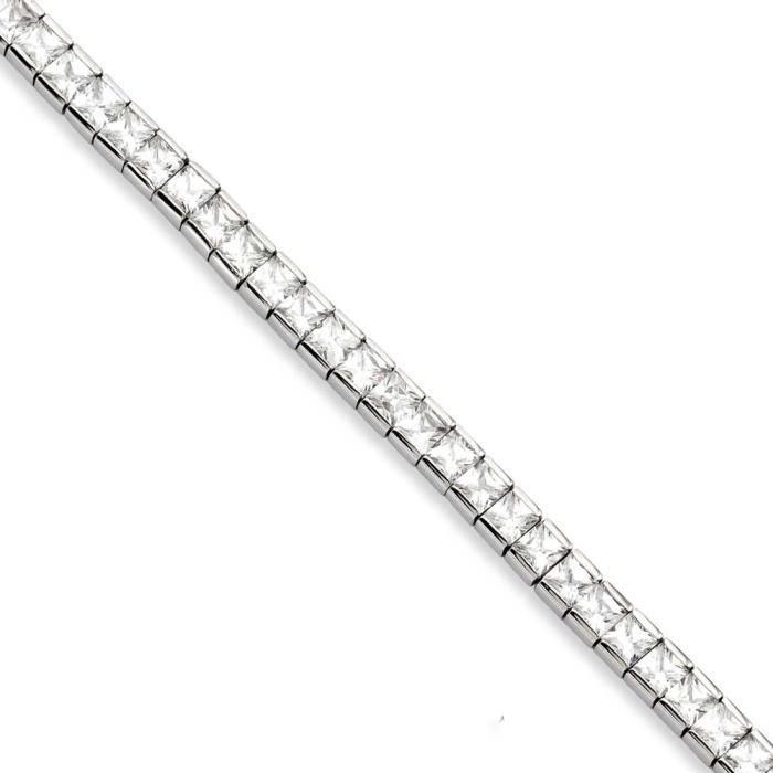 CZ en acier inoxydable pour Bracelet Motif 19 cm