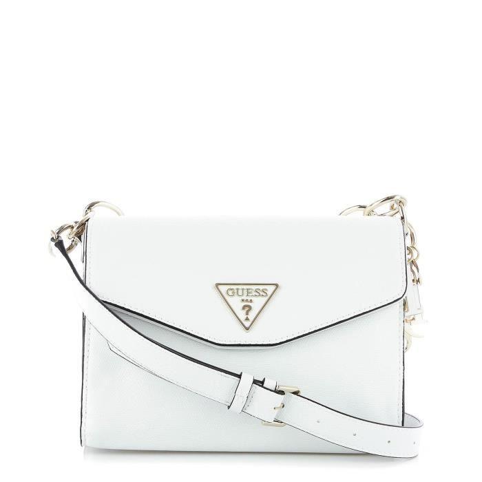 Femme Cuir Blanc Sac Guess Artificielle Hwvg7291210white Porté W2ED9IeHY