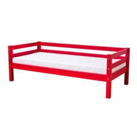 Lit Basic Hoppe 70x160 - Rouge - Achat / Vente structure de lit Lit ...