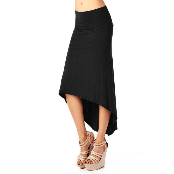 Bodycon Femmes Queue Robe Jupe Noir Femme Taille Long De Maxi Rouge Bohème Stretch Swallow noir Plus 8Pk0NwnXO
