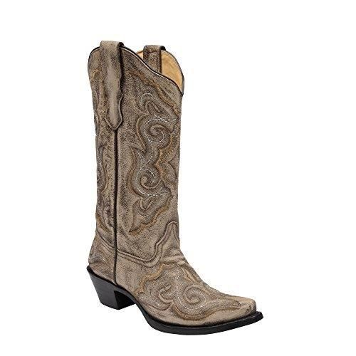 Corral Ladies Distressed Brown-chocolate Embroidery Western Boot SKCOO Taille-41 mjWaYOw7P
