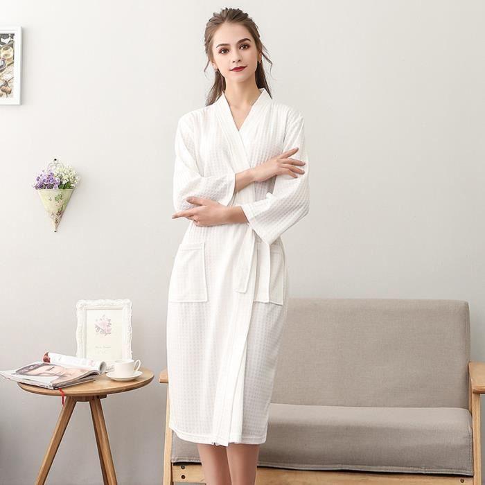 7591aa36f69c9 Peignoirs de bain (1Pièce)Couple Robes de chambre et kimonos Femme ...