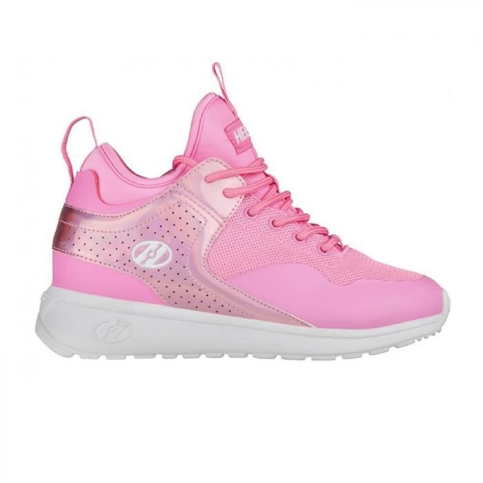 Heelys chaussure a roulette piper 100244 light pink hologram metal