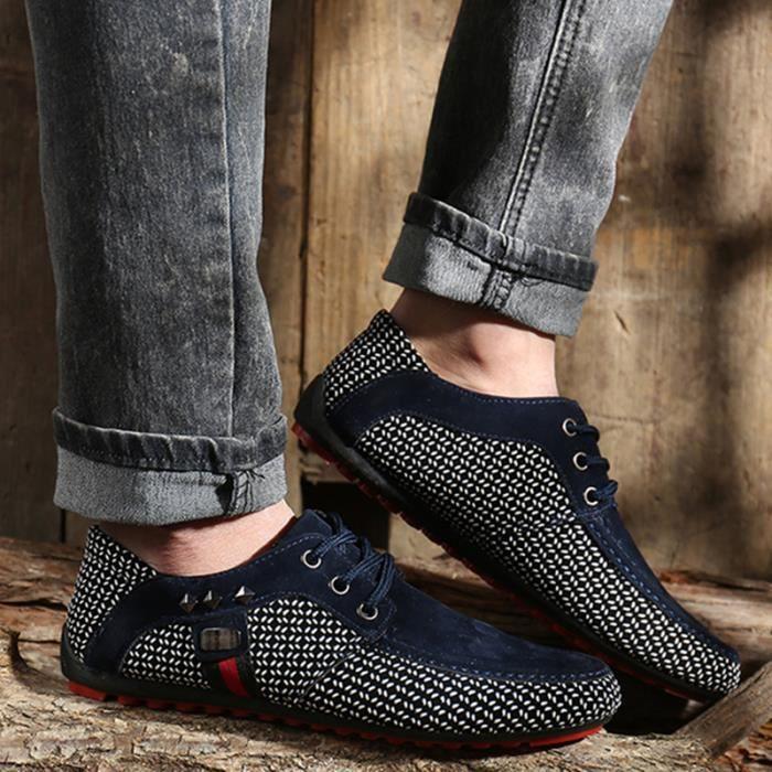 Chuassures Hommes Cuir Printemps Ete Classique Occasionnels Chaussures LLT-XZ084Jaune44 6gUUvwnnWn