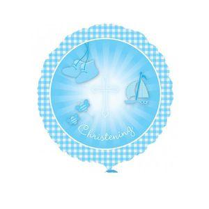 a13650806d3d1 ACCESSOIRE DÉGUISEMENT Ballon d hélium Chaussons Baptême bleu