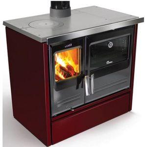 CUISINIÈRE - PIANO Lacunza - cuisinière à bois 7kw bordeaux - etna7bo