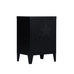 ARMOIRE DE CHAMBRE FurnitureR-Table de chevet - industriel en métal -