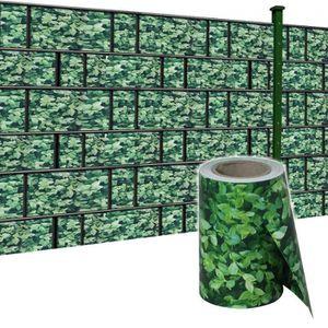 CLÔTURE - GRILLAGE MCTECH 65m x 19cm PVC brise-vue pare-vent pour clô