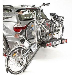 PORTE-VELO MOTTEZ Porte 2 Vélos Électriques d'Attelage Platin