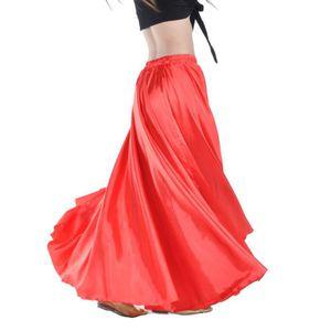 1a23abe65dce4f Popgarden Satin Demi Cercle Jupes Jupe De Danse... Rouge - Achat ...