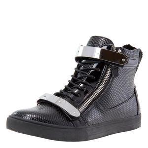 J75 ronde hommes Zion Toe strass Bracelet à lacets haut-top Sneaker HFQXN Taille-39 1-2 E8Kx90C