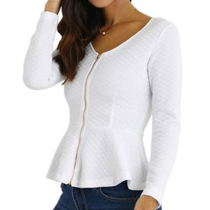 4f1aa7f308f67 CHEMISIER - BLOUSE Femmes Coton Slik Casual solides manches longues Z