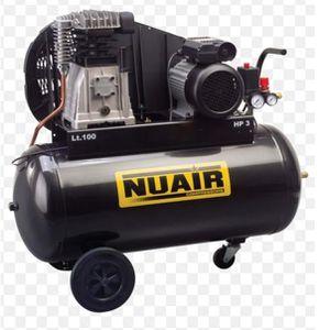 COMPRESSEUR Nuair - Compresseur 100 litres par courroie 2CV 10