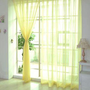 RIDEAU Bodhi@ Mode Couleur unie Rideau de la fenêtre Tull