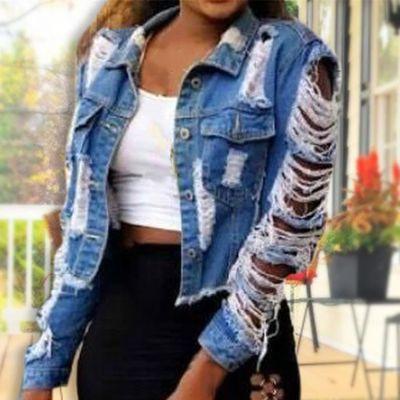 veste en jean troié femme