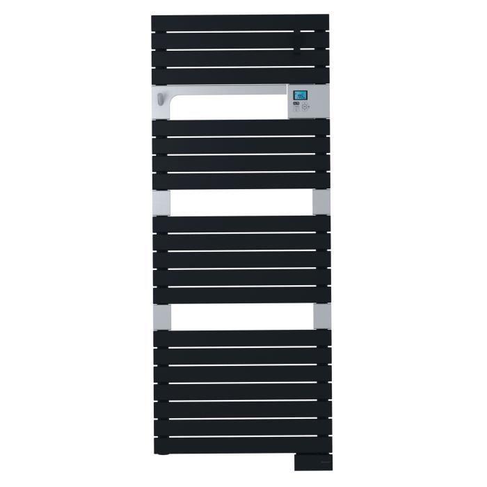 SAUTER Asama Radiateur Sèche-serviettes électrique - 750 watts - LCD - Programmable - Barres plates - Anthracite