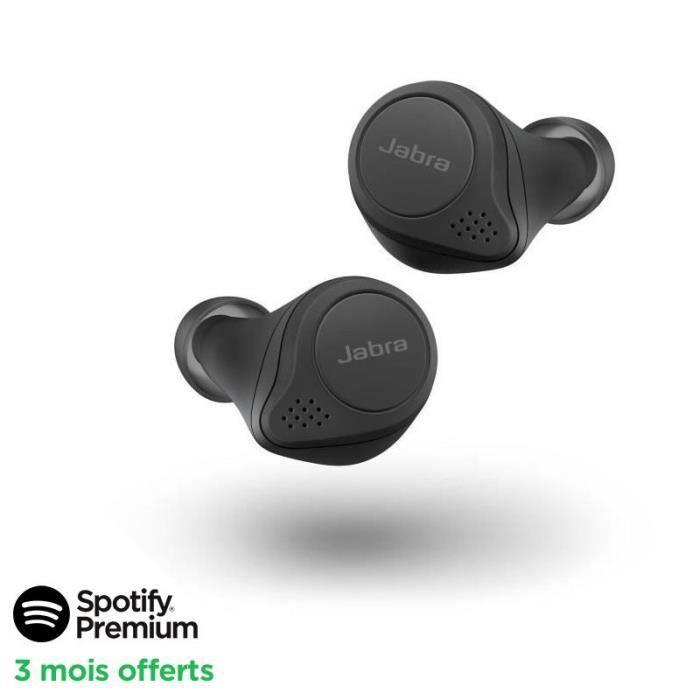 [SPOTIFY PREMIUM - 3 MOIS OFFERTS]JABRA Elite 75t Ecouteurs Bluetooth True Wireless - Black