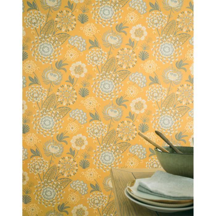 Arthouse Papier Peint Vintage Motif Moderne Jaune Achat Vente