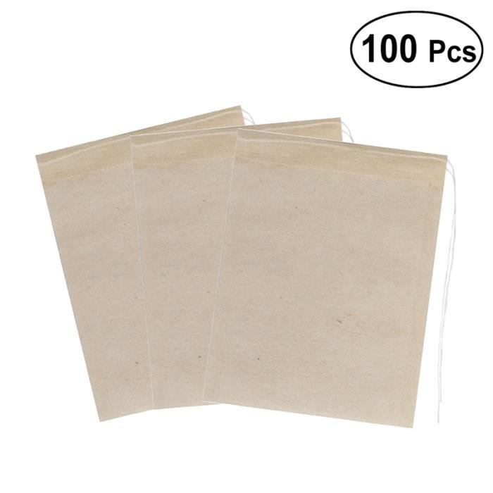 À Sachets Vide Sacs Sac Ounona Cordon Filtre Papier De 200 Pcs Thé 3L4AR5j